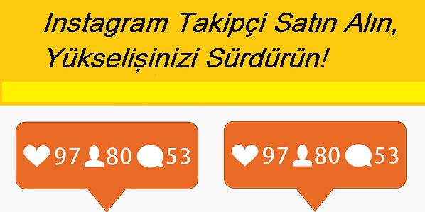instagram takipçi satın alın