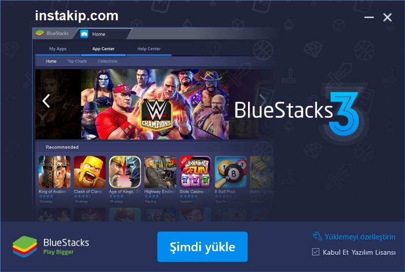 bluestacks yükle